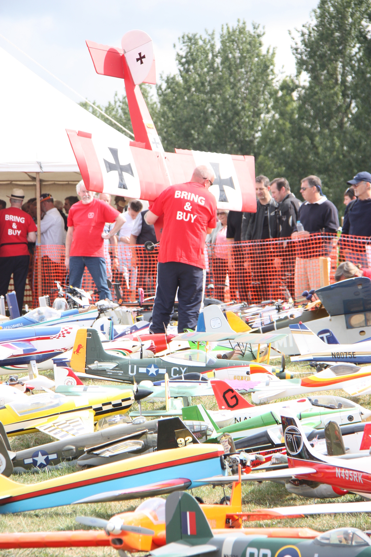 A 'sea' of model aircraft at the 2014 Bring and Buy.